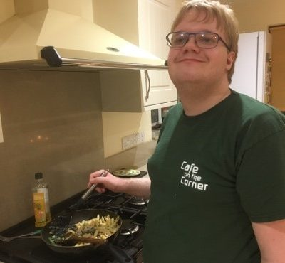 Jacob cooks up skills in Cafe