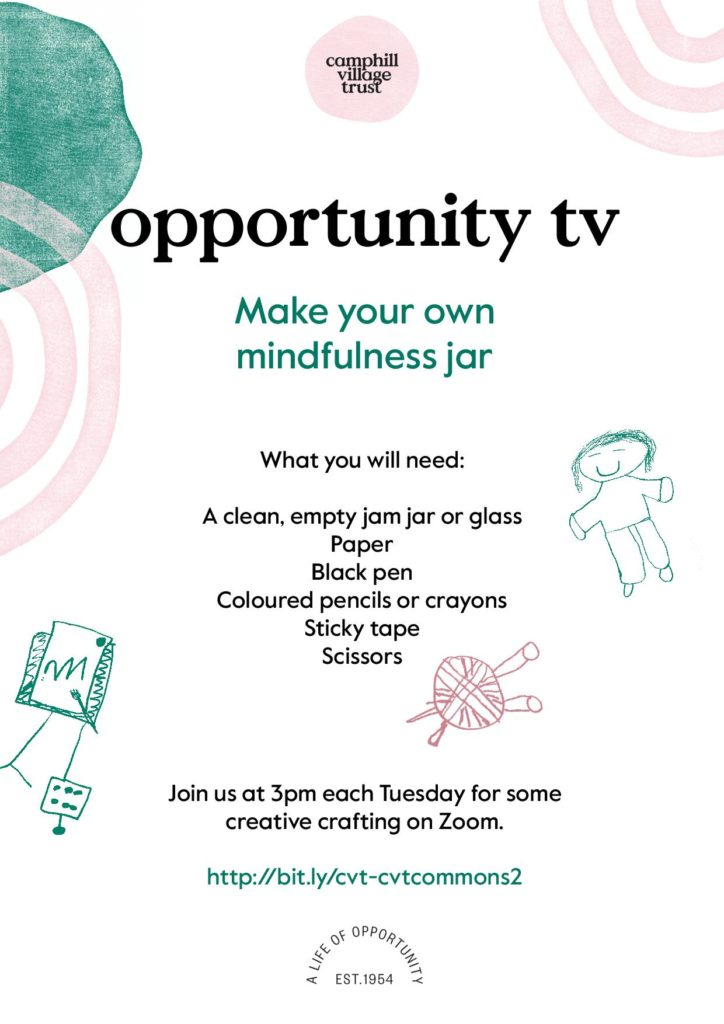 What you will need to make your own mindfulness jar on opportunity tv