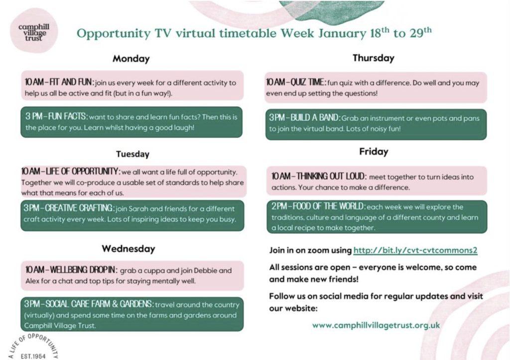 Opportunity TV Schedule