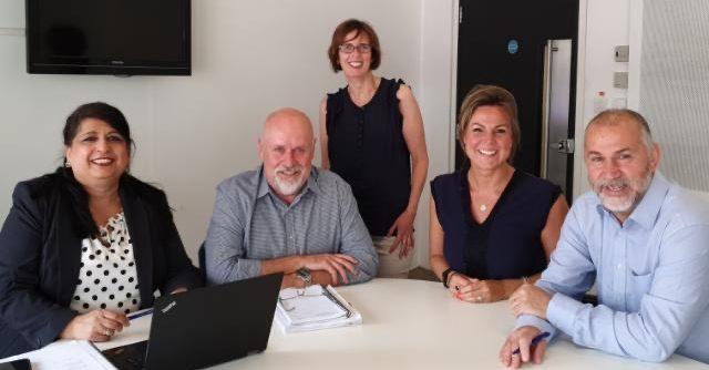 Camphill Village Trust Executive team, Balbinder Lally, Mark Denny, Annabel Arkless, Janine Moorcroft, Huw John