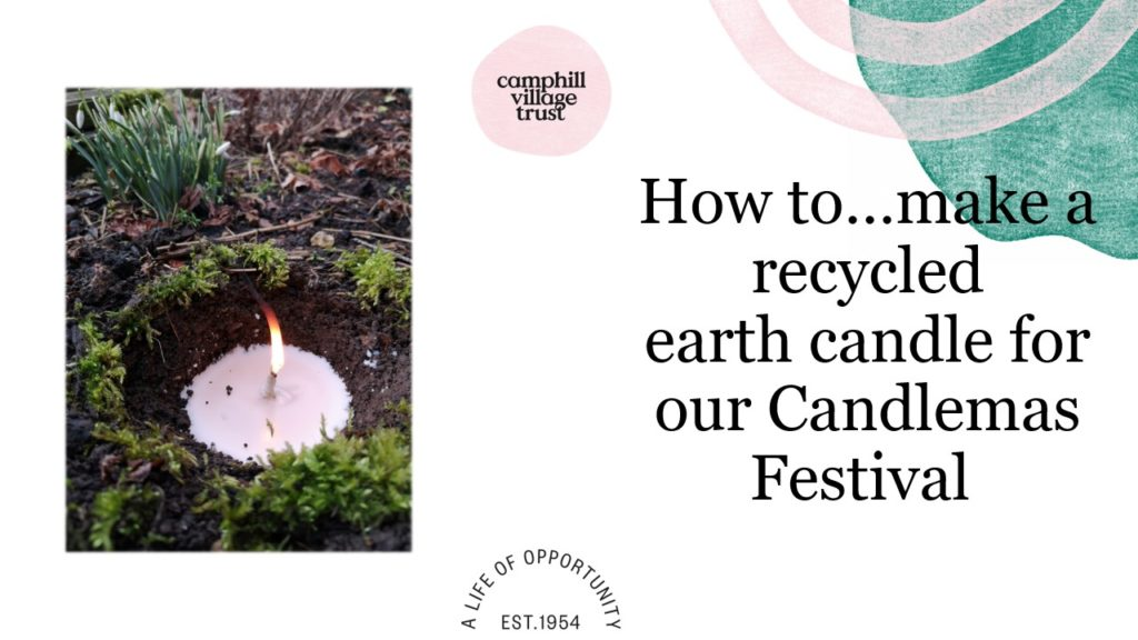 How to make a recycled earth candle for the Candlemas festival
