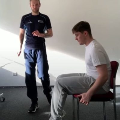 Seated exercise with Nick and Noah