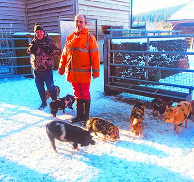 Enjoying an active life at Grange Village farm