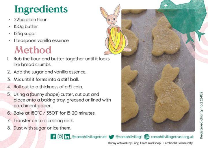 Larchfield shortbread bunny recipe