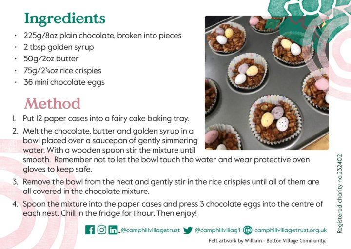 Easter crispy cake recipe