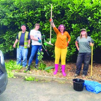 Ashfield Gardens team lends a hand
